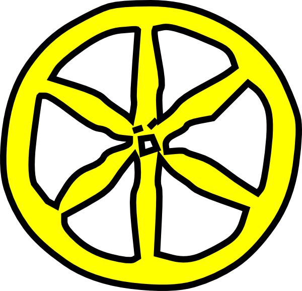 Wheel clip art at. Wagon clipart yellow