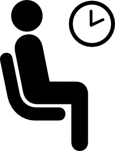 Wait clipart. Aiga waiting sign clip