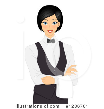 Illustration by bnp design. Waitress clipart