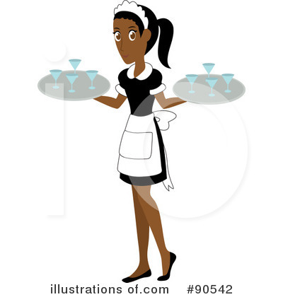 Illustration by rosie piter. Waitress clipart