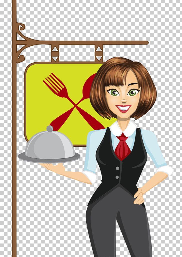Waitress clipart bartender. Waiter png art black