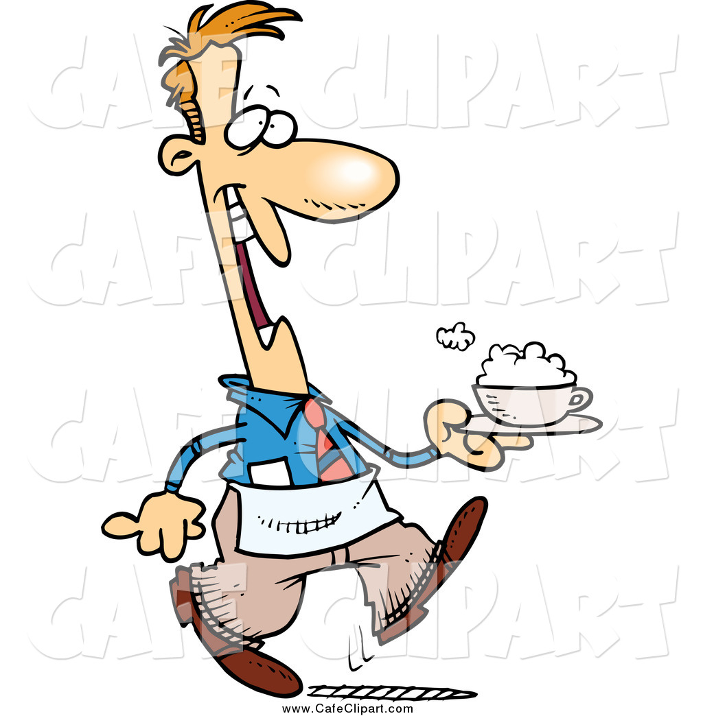Waitress clipart cafe. Waiter free download best