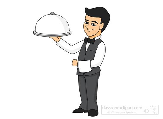 waiter clipartlook. Waitress clipart cute