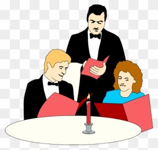 Waitress clipart fancy restaurant. Free png waiter clip