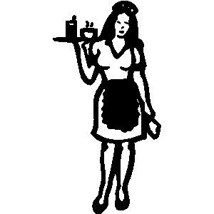 Waitress clipart female. Free cliparts download clip