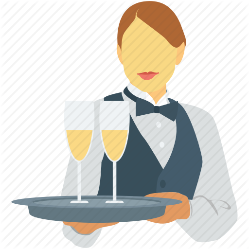 Waitress clipart female.  hotel and services
