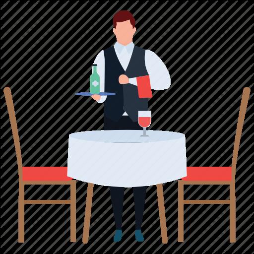 Waitress clipart food attendant.  hotel service staff