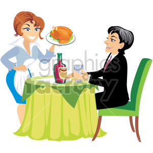 Royalty free images graphics. Waitress clipart food attendant