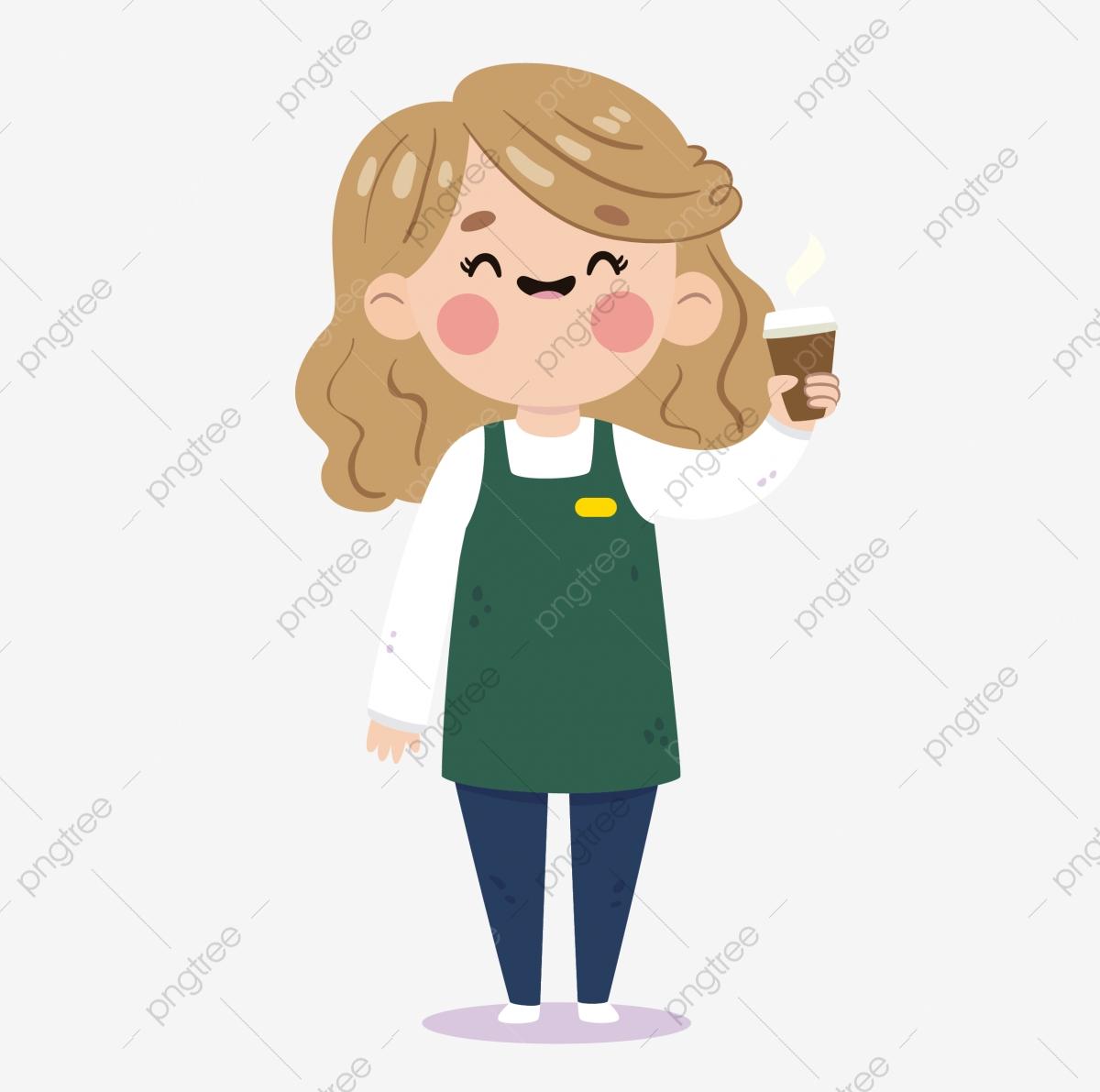 Caterer waiter cartoon beauty. Waitress clipart food catering