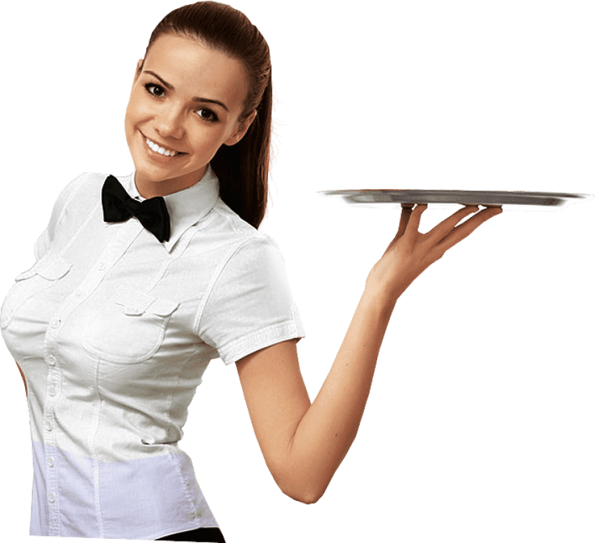 Png free images toppng. Waitress clipart food service