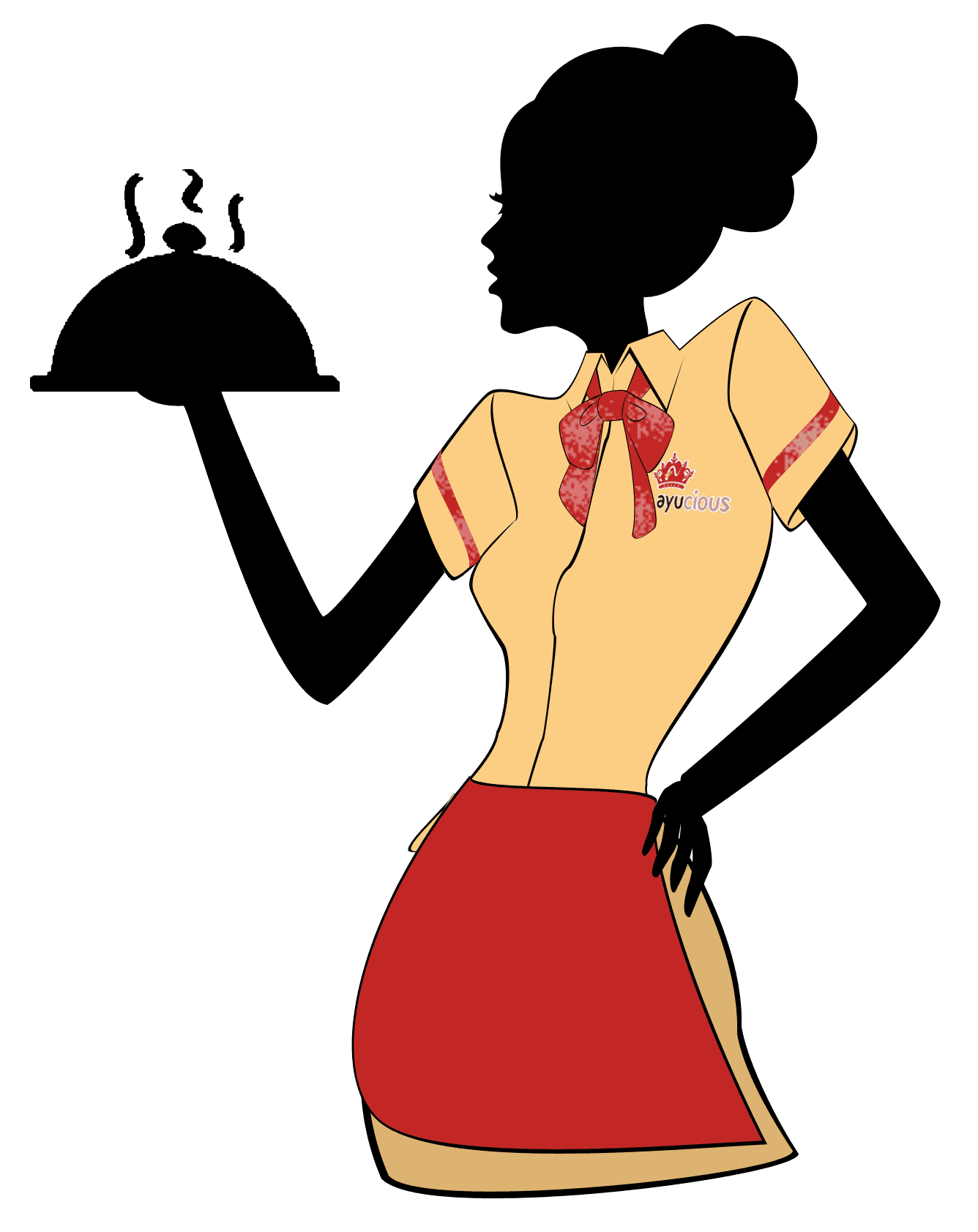 Waitress clipart food service. Png free images toppng