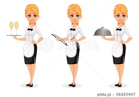 Waitress clipart handsome. Waiter vectors pixta