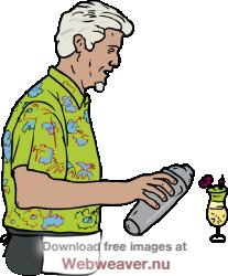 Making drinks clip art. Waitress clipart handsome