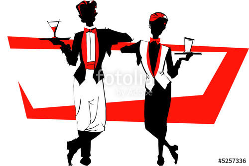 Waitress clipart hotel indian waiter. Job series stock image
