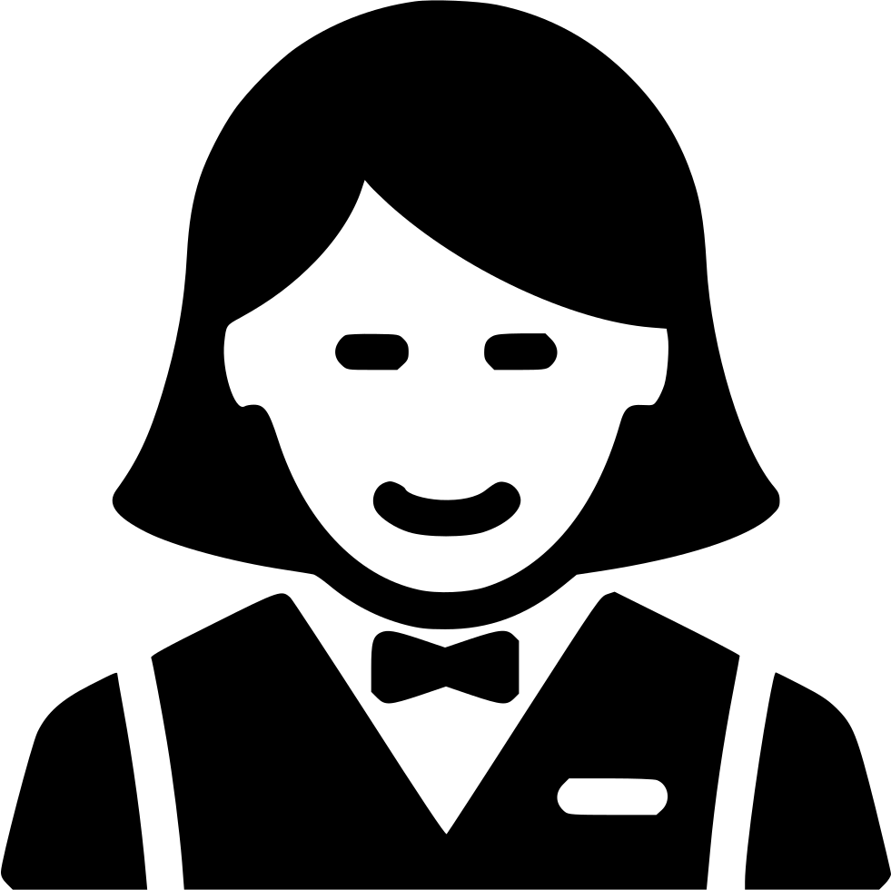 Svg png icon free. Waitress clipart maid