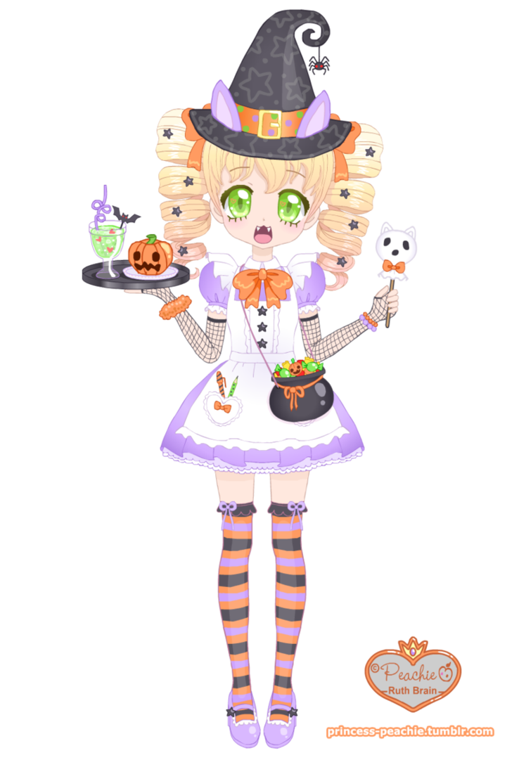 Mallow s halloween by. Waitress clipart maid