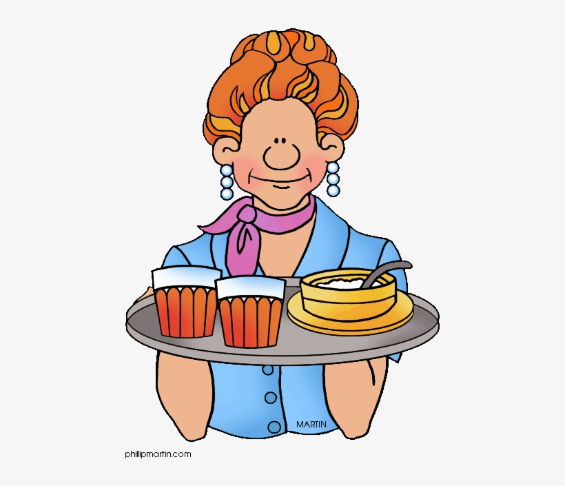 Meal clip art free. Waitress clipart pizza