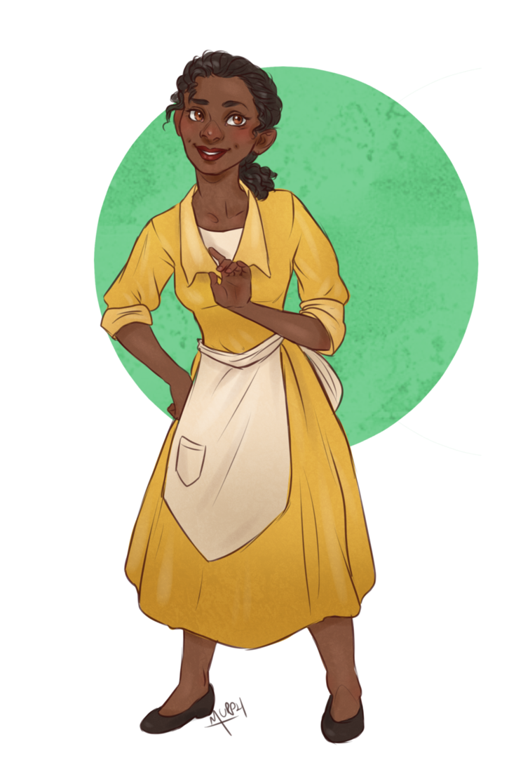 Waitress clipart princess tiana. Pin by murph ainmire