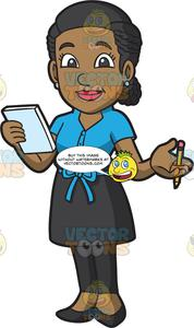 Waitress clipart sales order. A ready to take