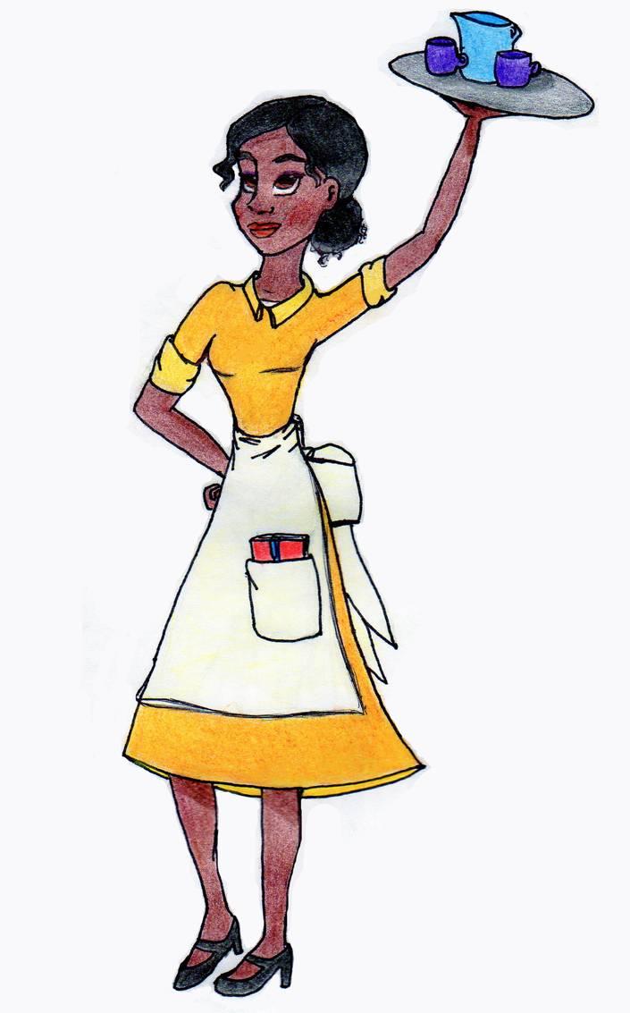 By lila on deviantart. Waitress clipart tiana