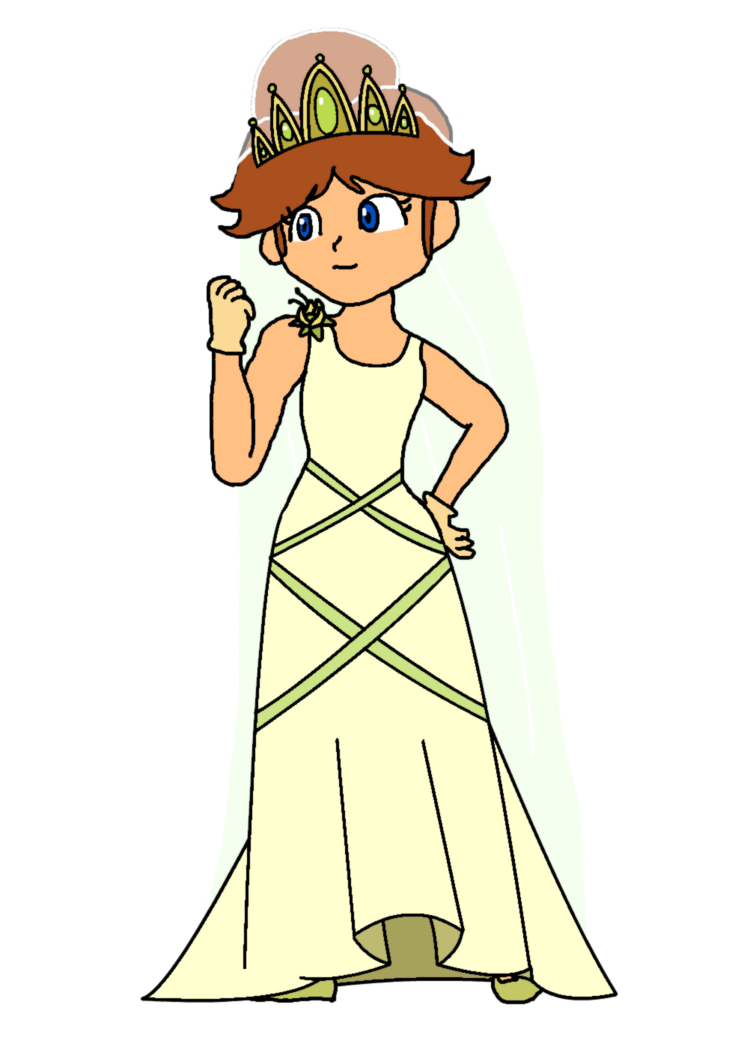 Daisy wedding by katlime. Waitress clipart tiana