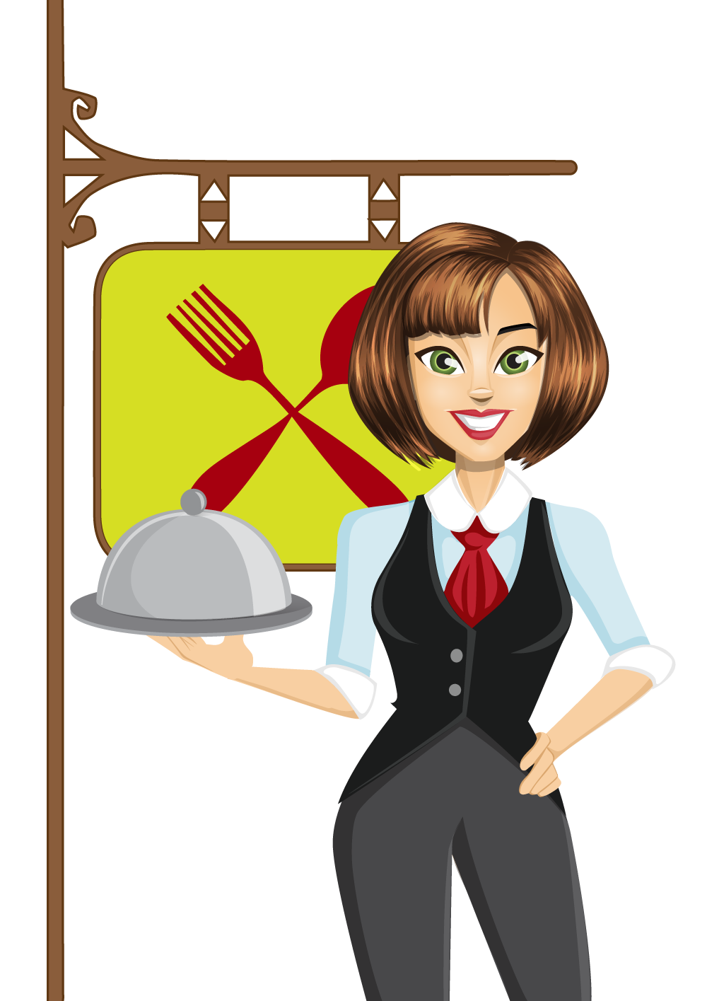 Clip art cliparts transprent. Waitress clipart waiter chinese