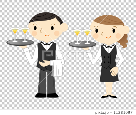 And stock illustration pixta. Waitress clipart waiter uniform