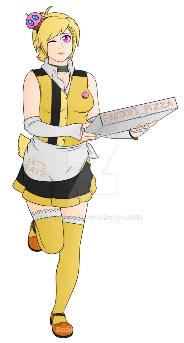 Fnaf human chica by. Waitress clipart waiter uniform