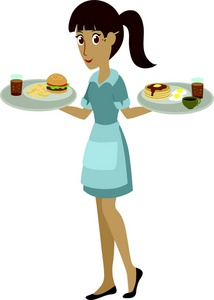 Waitress clipart waiteress. Taking an order weather