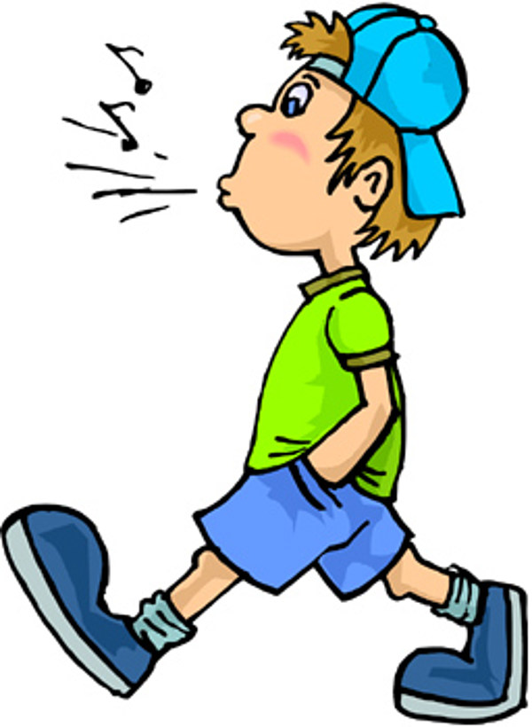 You can whistle but. Walk clipart