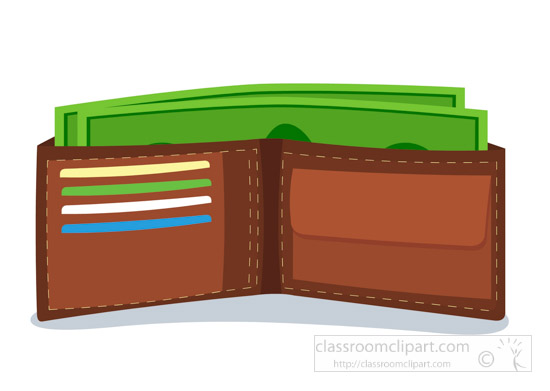 collection of with. Wallet clipart