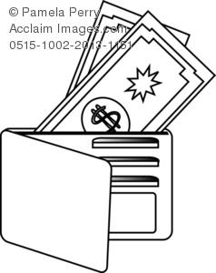 Wallet clipart. Clip art illustration of