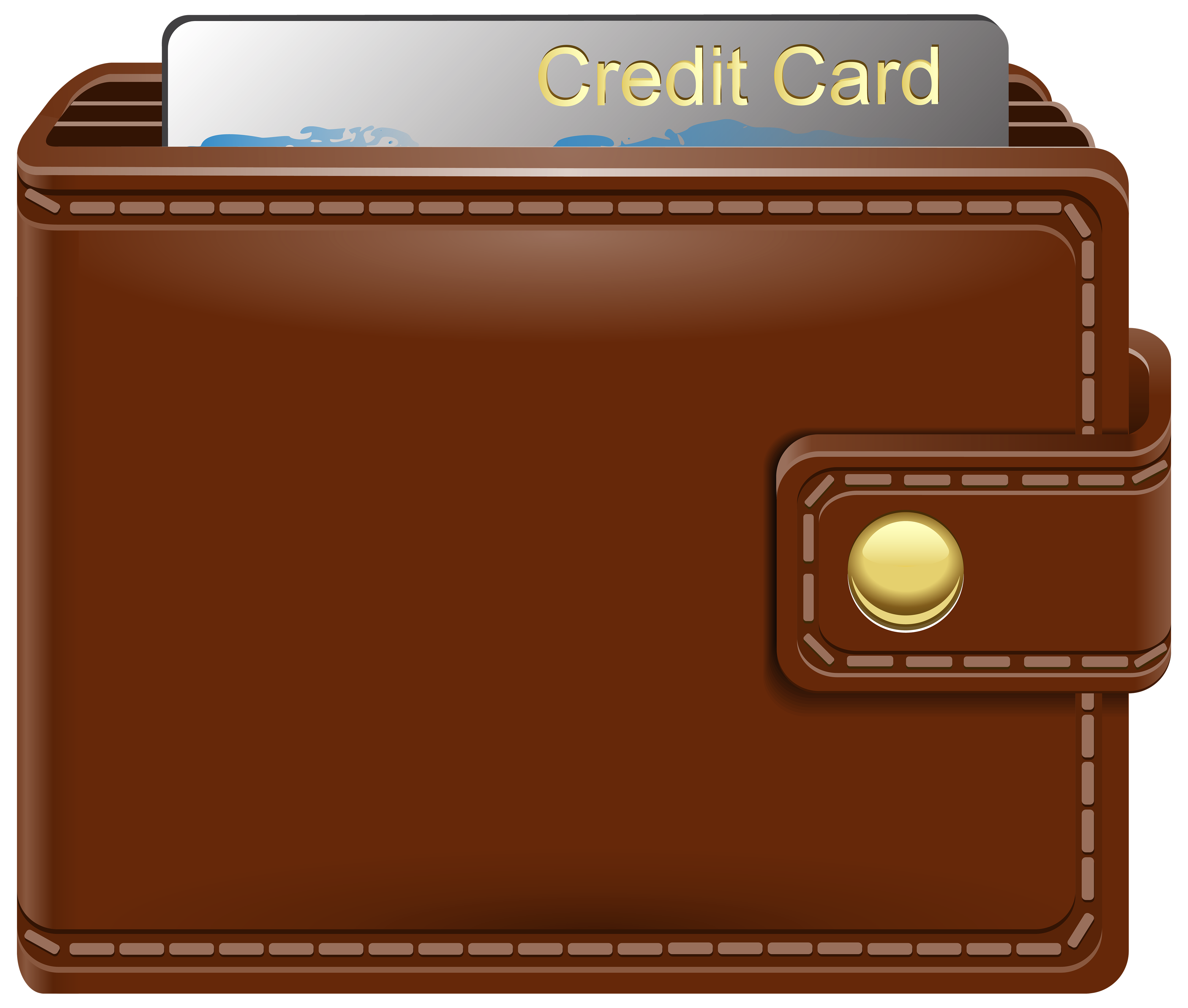 Wallet clipart. With credit card png