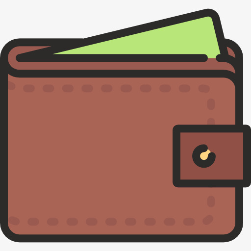 Cartoon bags png image. Wallet clipart