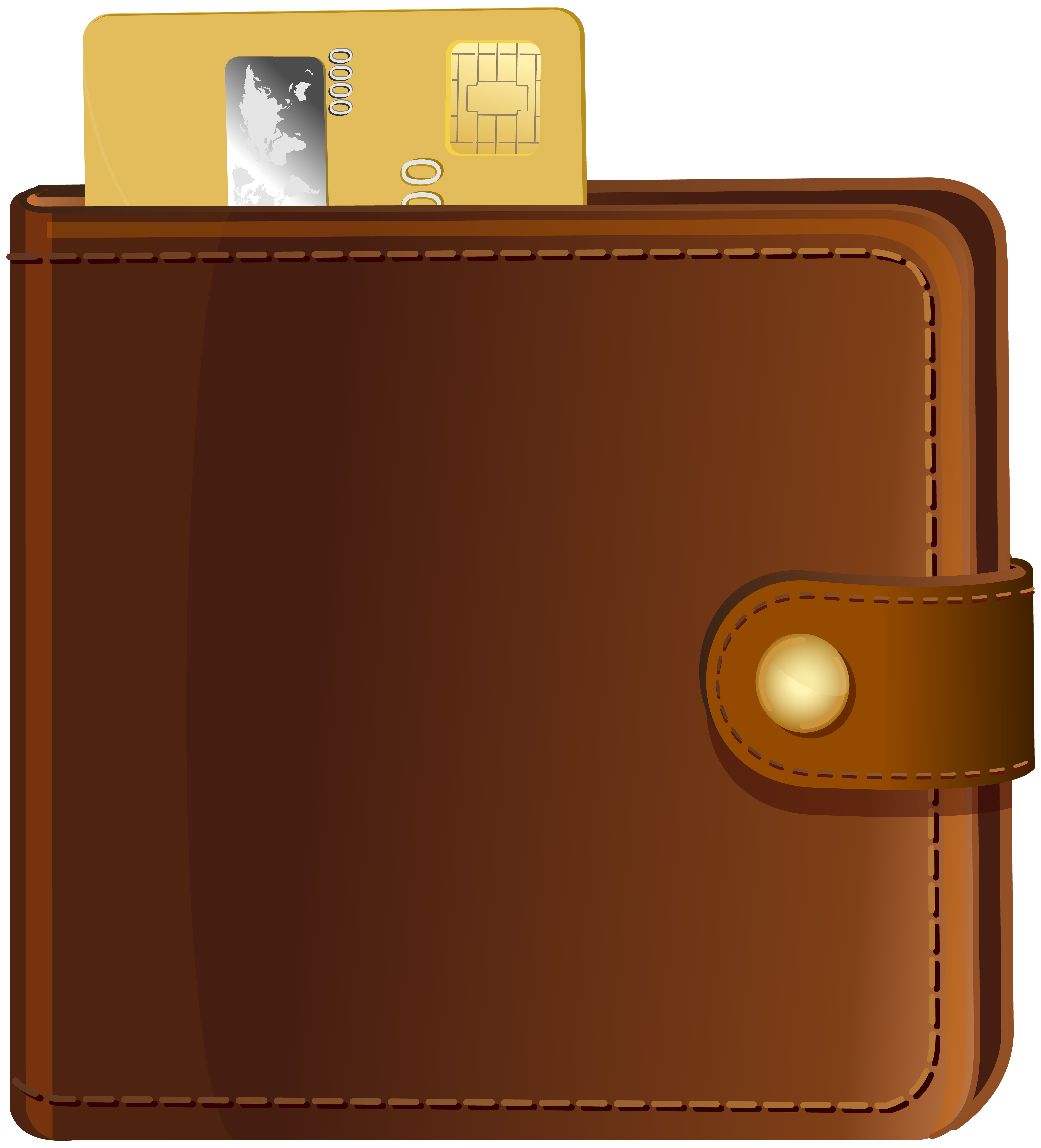 With credit card transparent. Wallet clipart