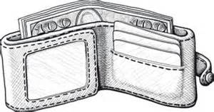 Wallet clipart black and white. Free open cliparts download