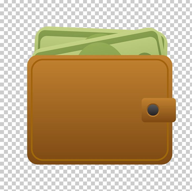 Material yellow rectangle png. Wallet clipart brown