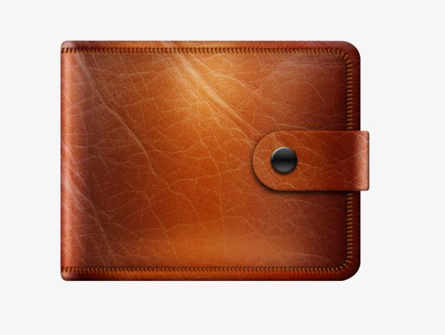 Dark bag men png. Wallet clipart brown