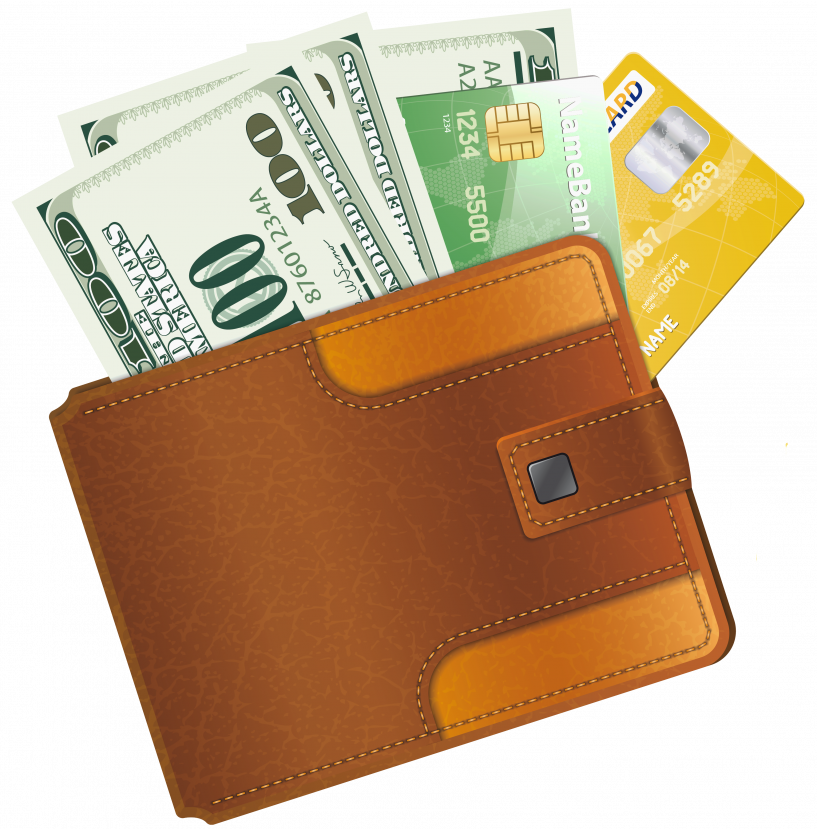 With credit cards and. Wallet clipart coloring