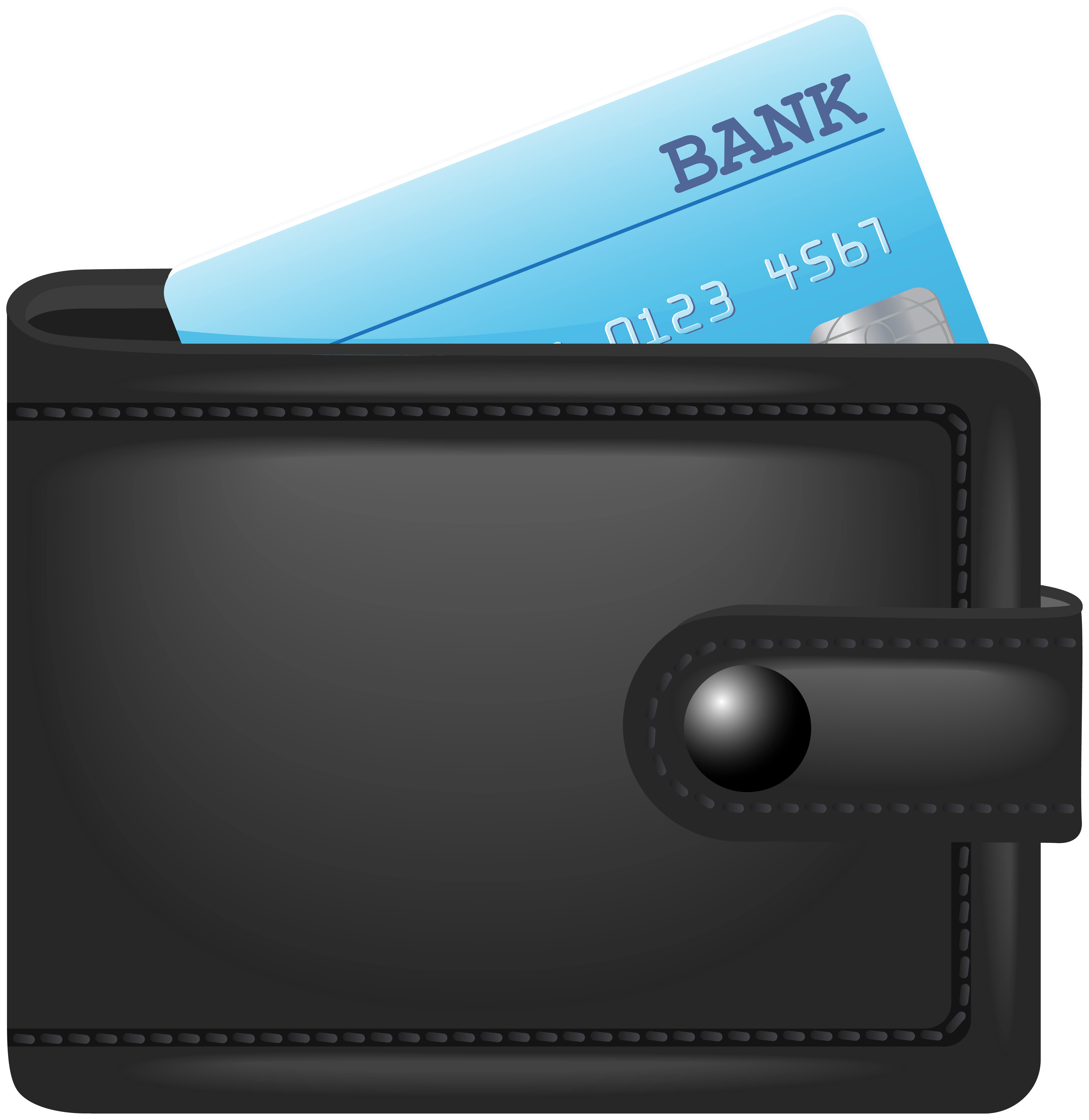 Wallet clipart credit. With card png clip
