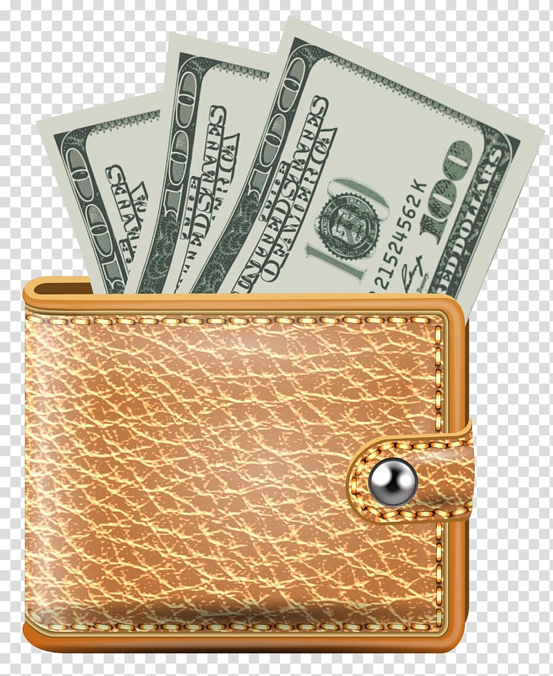 Wallet clipart dollar. Three us banknotes in