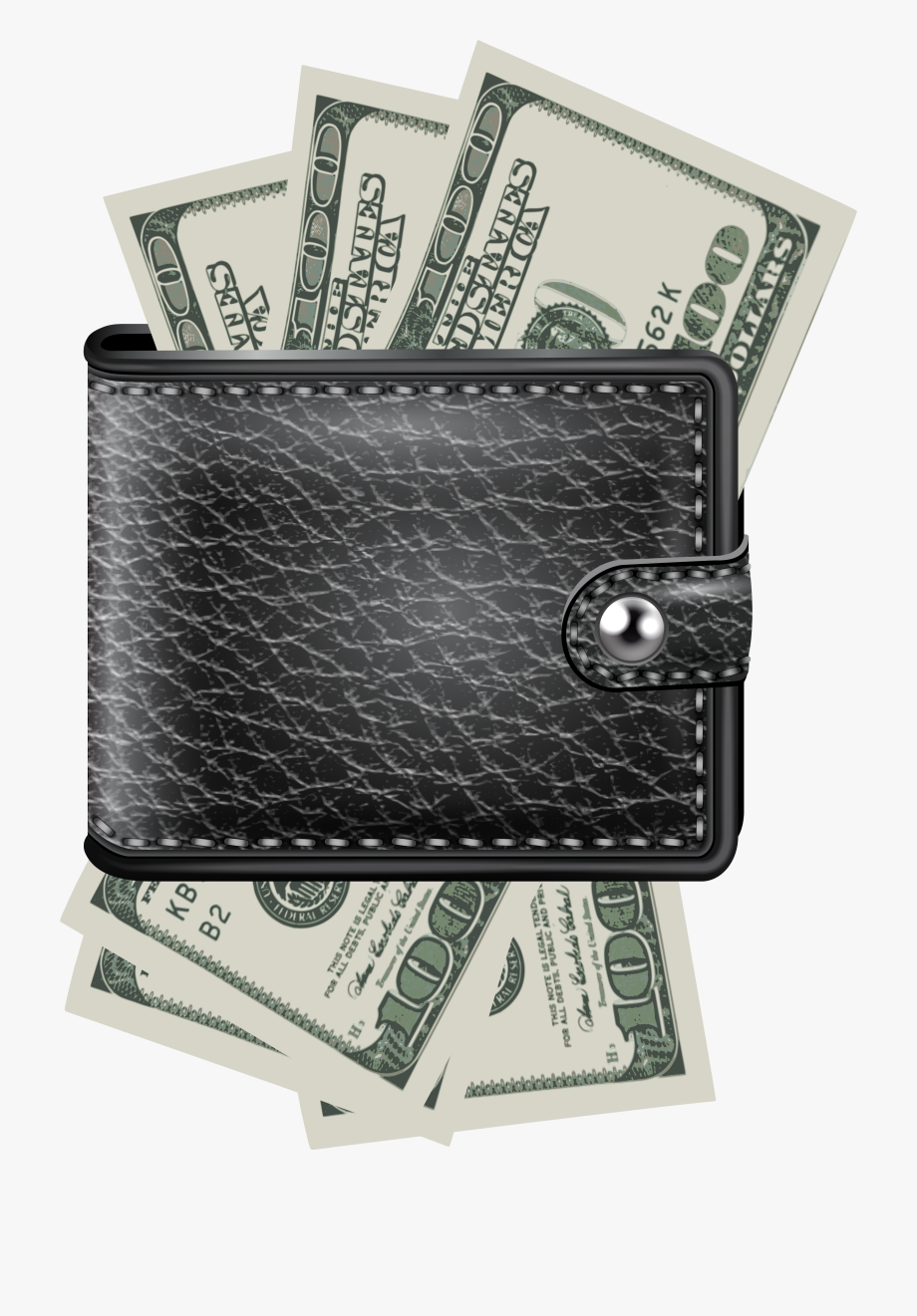 Bill png with money. Wallet clipart dollar