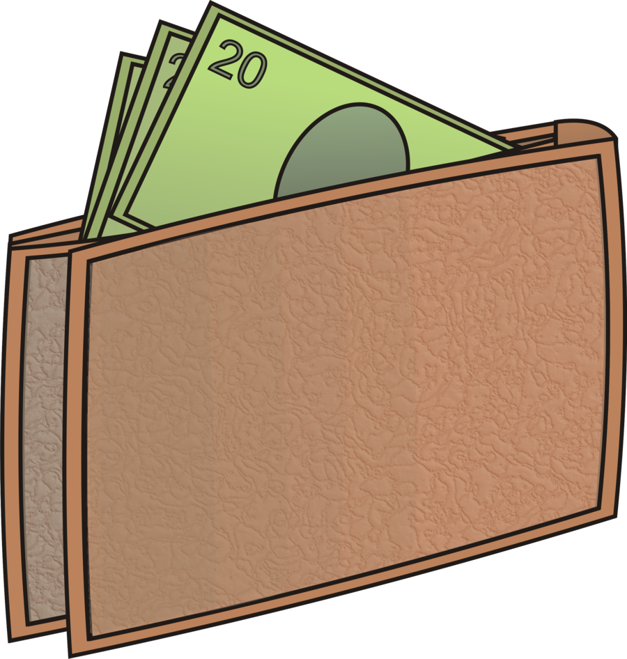 Wallet clipart full wallet. Money by masterjs on