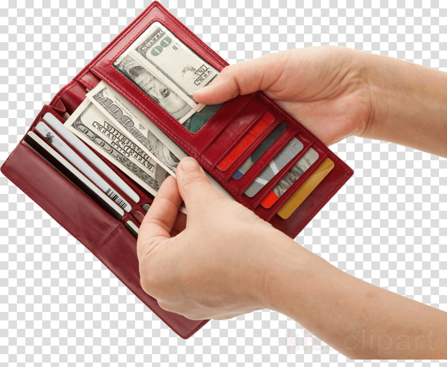 Product finger transparent png. Wallet clipart hand