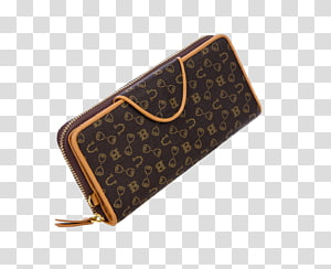 Brown with card and. Wallet clipart ladies wallet