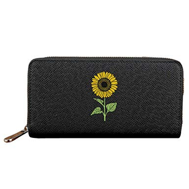 Sunflower women wallets zipper. Wallet clipart leather wallet