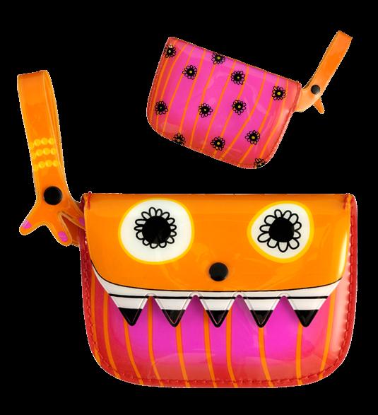 Spa clip clop purse. Wallet clipart orange bag