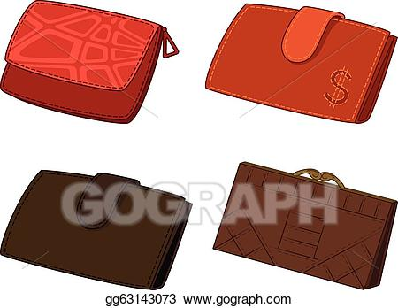 Wallet clipart red wallet. Vector illustration leather wallets