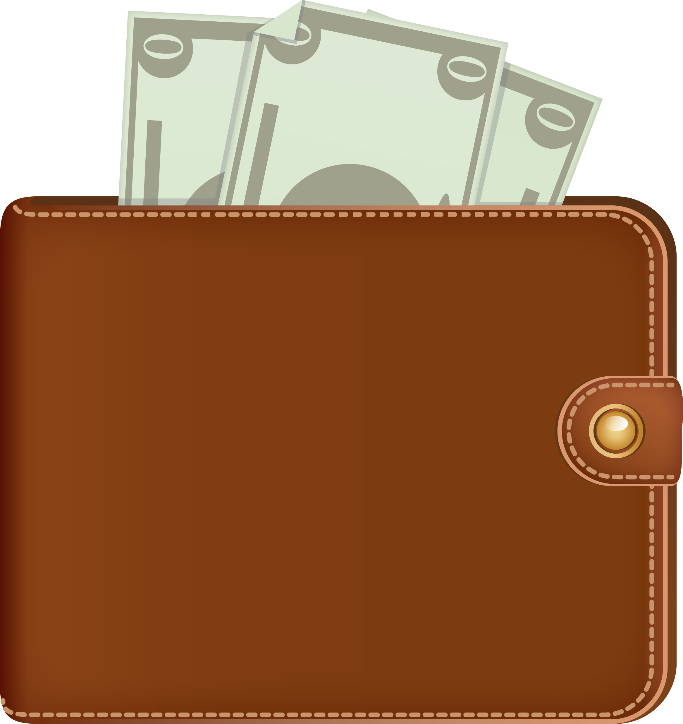 With money transparent png. Wallet clipart woman wallet