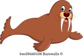 posters and art. Walrus clipart